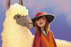 llama and girl_small
